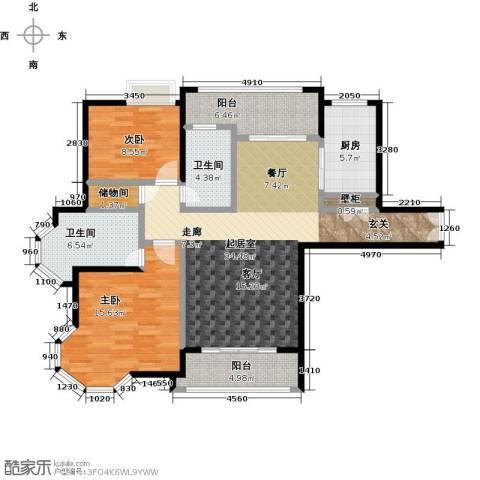 金桥瑞仕花园2室0厅2卫1厨120.00㎡户型图