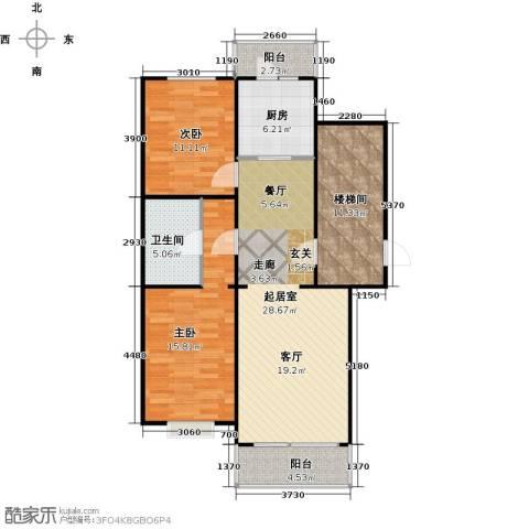 新华联锦园2室0厅1卫1厨115.00㎡户型图
