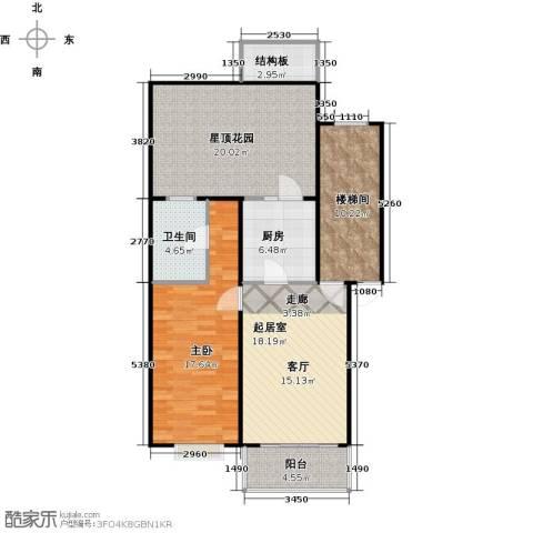 新华联锦园1室0厅1卫1厨114.00㎡户型图