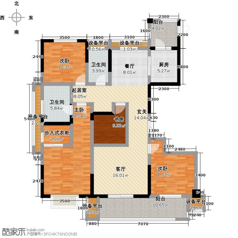佳源东方都市161.08㎡161.08平米,4室2厅2卫,22套户型4室2厅2卫