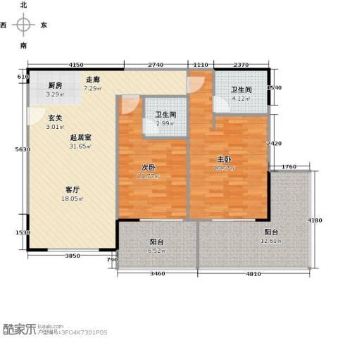 聚龙湖2室0厅2卫0厨116.00㎡户型图