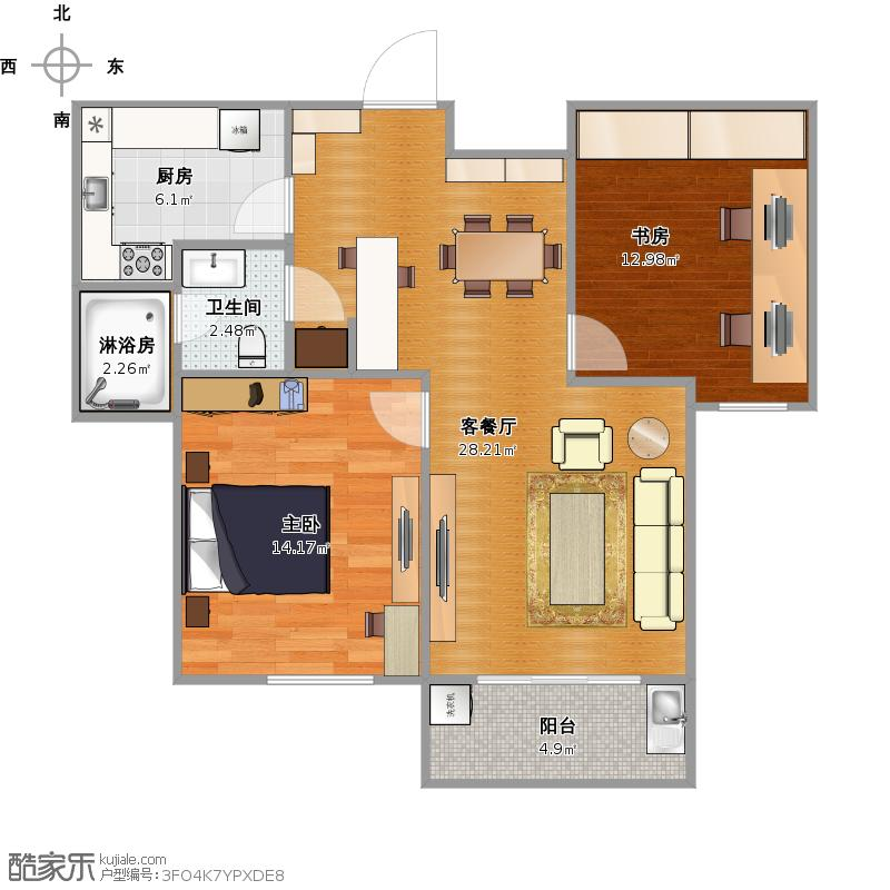 两房两厅一卫