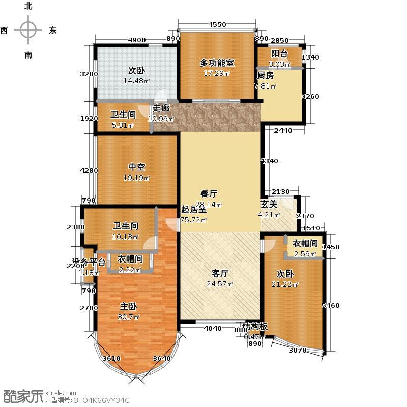 东湖湾259.00㎡505号楼1-1-D\\\\\\\'1三室二厅二卫户型3室2厅2卫
