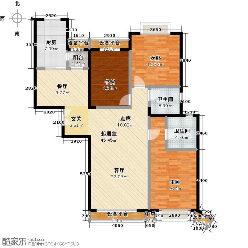 东湖湾U三室两厅两卫(已售完)户型