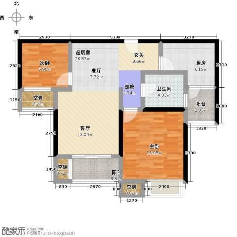 万里晶品苑2室0厅1卫1厨100.00㎡户型图