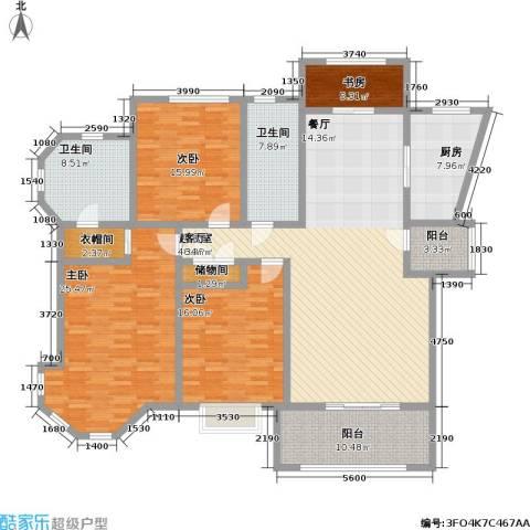 上海公馆4室0厅2卫1厨153.01㎡户型图