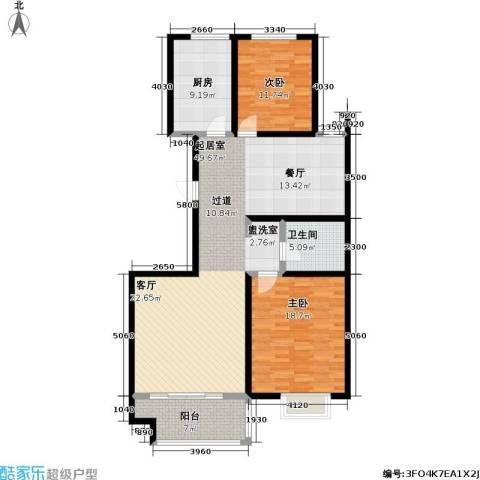 高速仁和盛庭2室0厅1卫1厨116.00㎡户型图