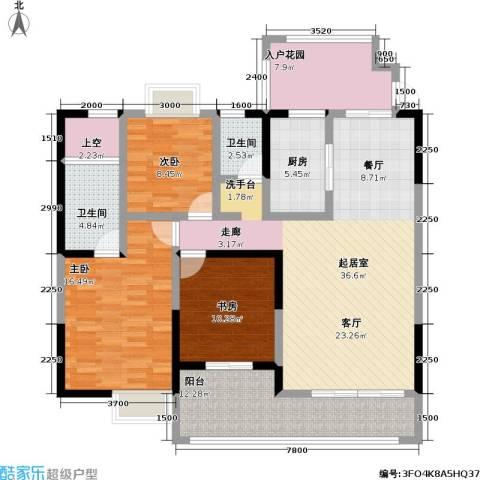 中旗哈佛中心3室0厅2卫1厨136.00㎡户型图