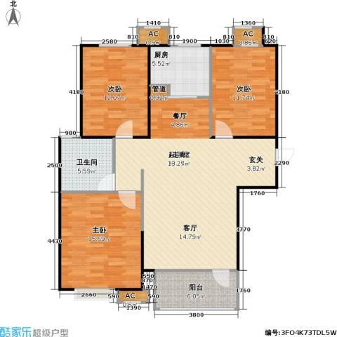 �阳新城3室0厅1卫1厨129.00㎡户型图