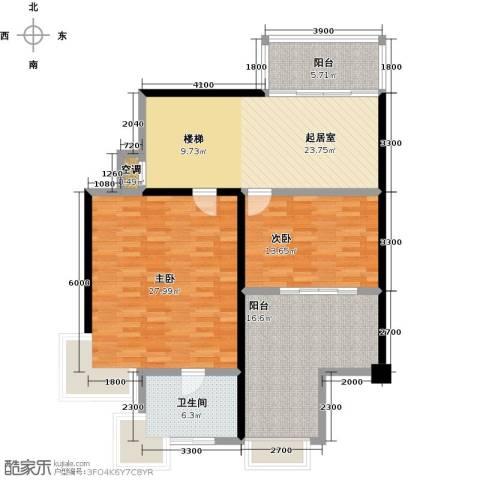 绿中海明苑2室0厅1卫0厨200.00㎡户型图