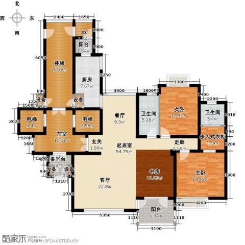 金广君悦山2室0厅2卫1厨169.74㎡户型图