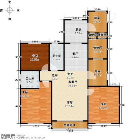 牡丹城3室1厅2卫1厨161.00㎡户型图
