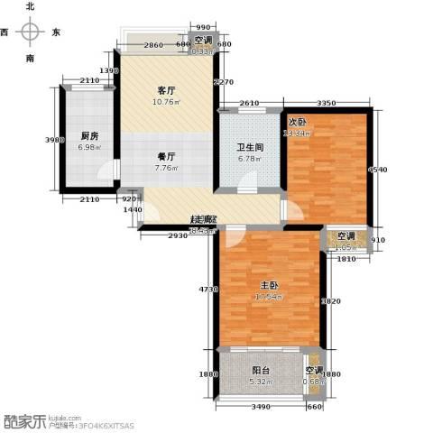 万里晶品苑2室0厅1卫1厨90.00㎡户型图
