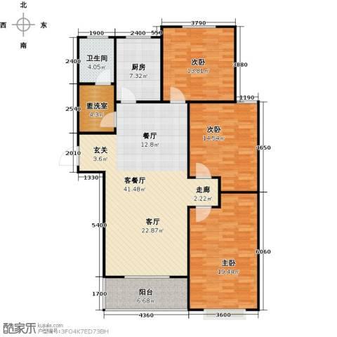 向阳雅园3室1厅1卫1厨119.00㎡户型图