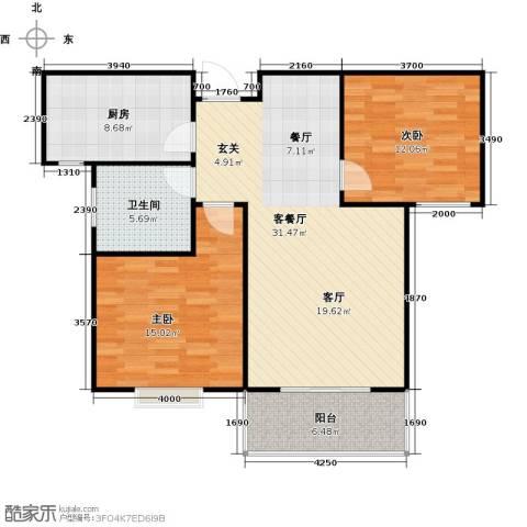 向阳雅园2室1厅1卫1厨85.00㎡户型图