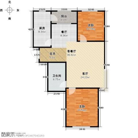 牡丹城2室1厅1卫1厨111.00㎡户型图