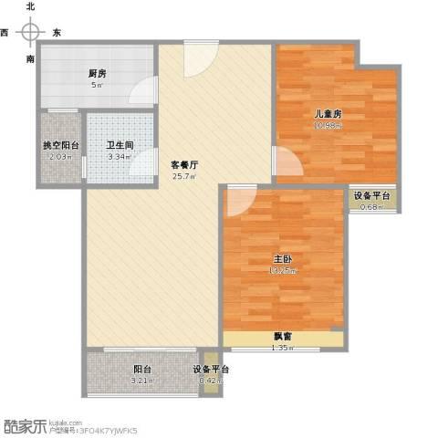光谷8号2室1厅1卫1厨88.00㎡户型图
