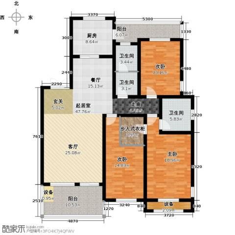 三箭汇福山庄3室0厅3卫1厨162.00㎡户型图