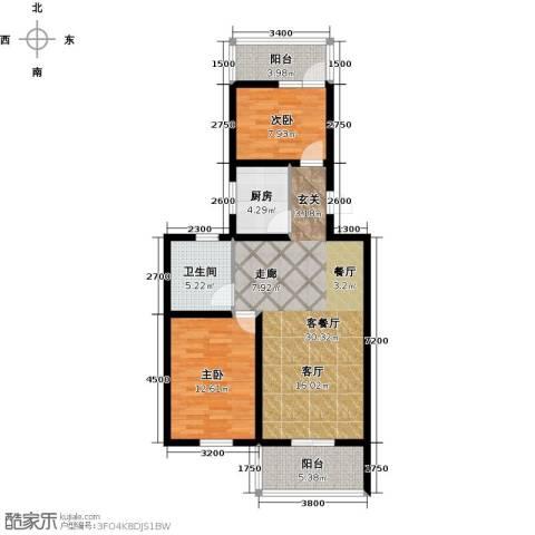 宜居汇・影城名旅2室1厅1卫1厨100.00㎡户型图