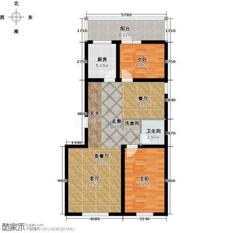 宜居汇・影城名旅2室1厅1卫1厨111.00㎡户型图