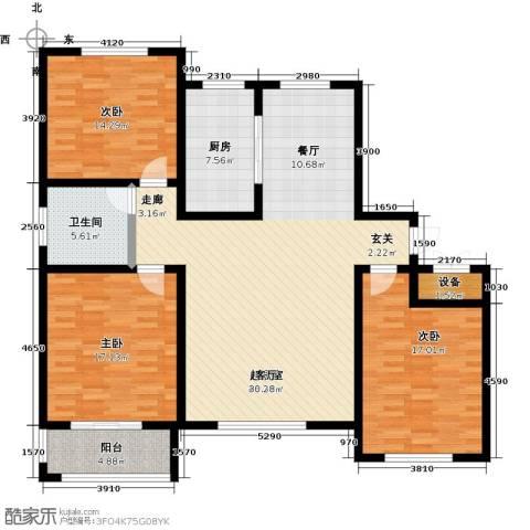 书香水韵3室0厅1卫1厨130.00㎡户型图
