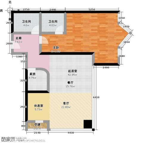 MINI公馆1室0厅2卫1厨96.00㎡户型图