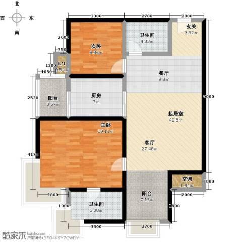 绿中海明苑2室0厅2卫1厨200.00㎡户型图