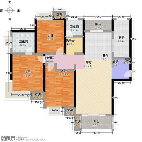万里晶品苑3室0厅2卫1厨140.00㎡户型图