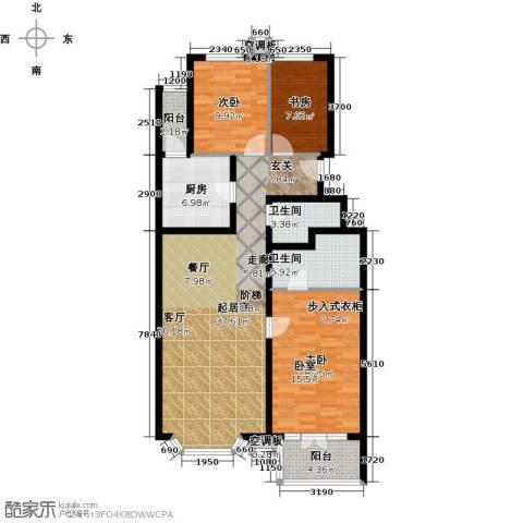 香湾(晶城秀府)3室0厅2卫1厨138.00㎡户型图