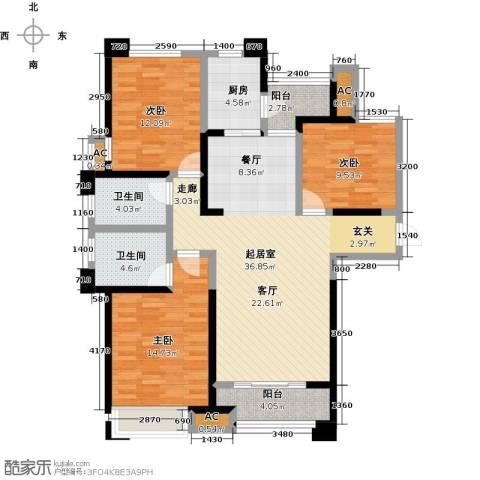 美的城3室0厅2卫1厨139.00㎡户型图