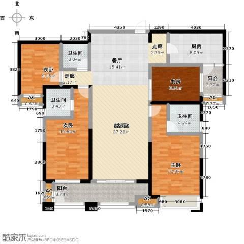 美的城4室0厅3卫1厨190.00㎡户型图