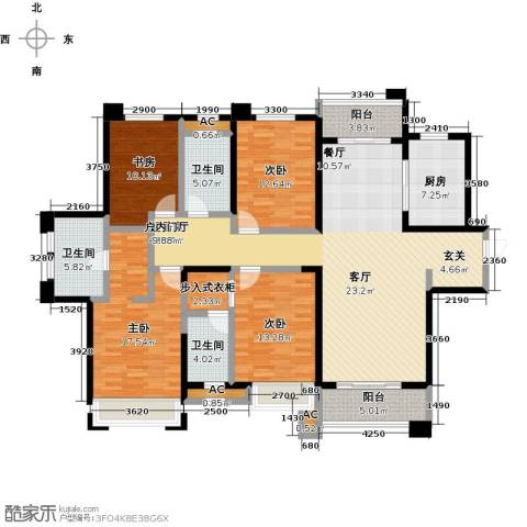 美的城4室0厅3卫1厨201.00㎡户型图