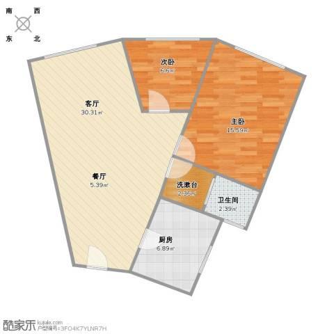 共和大厦商住楼2室1厅1卫1厨67.88㎡户型图