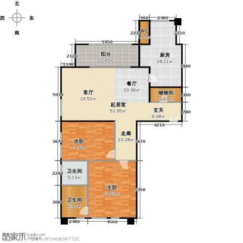 翠湖天地御苑2室0厅2卫1厨148.71㎡户型图