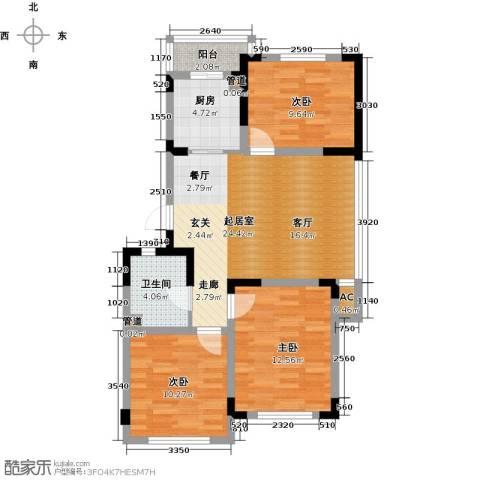 绿地・国际花都3室0厅1卫1厨99.00㎡户型图