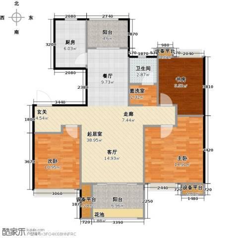 东投阳光城3室0厅1卫1厨106.00㎡户型图