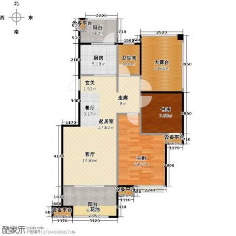 东投阳光城2室0厅1卫1厨87.00㎡户型图