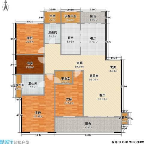 邦泰中央花城4室0厅2卫1厨179.00㎡户型图