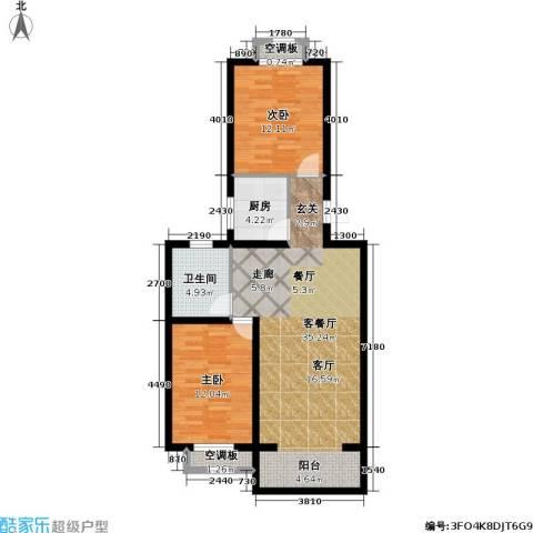 宜居汇・影城名旅2室1厅1卫1厨101.00㎡户型图