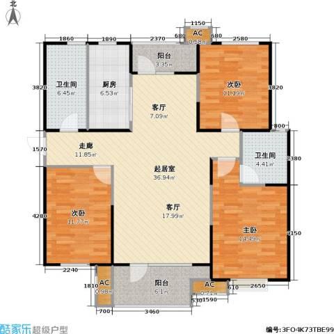 �阳新城3室0厅2卫1厨140.00㎡户型图