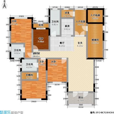 中建悦海和园4室0厅3卫1厨166.93㎡户型图