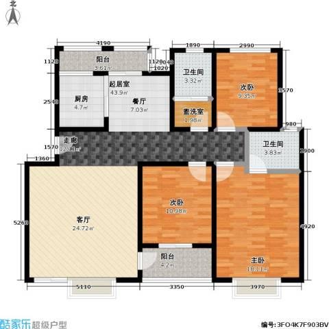 阳光美地3室0厅2卫1厨148.00㎡户型图