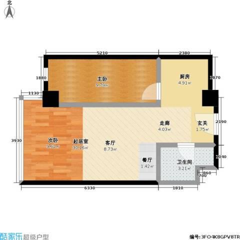 东杉国际1室0厅1卫0厨49.00㎡户型图