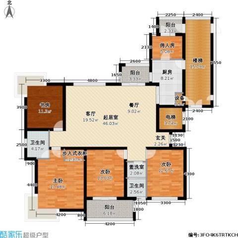 金广君悦山4室0厅2卫1厨177.91㎡户型图