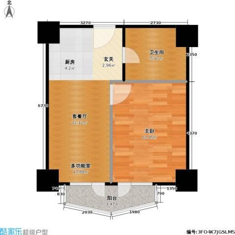 新世纪广场1室0厅1卫0厨55.00㎡户型图