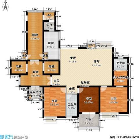 金广君悦山3室0厅2卫1厨174.13㎡户型图