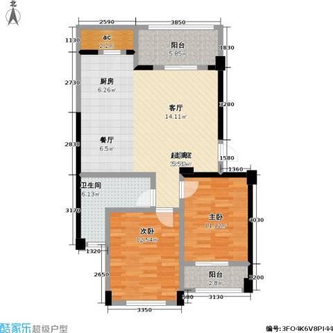 骏霖左岸丽川2室0厅1卫0厨84.00㎡户型图