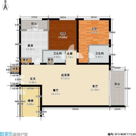 US联邦公寓2室0厅2卫1厨171.00㎡户型图