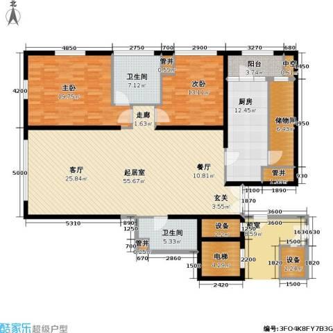 US联邦公寓2室0厅2卫1厨163.00㎡户型图