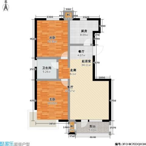 紫金东郡2室0厅1卫1厨122.00㎡户型图